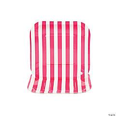 Hot Pink Striped Square Dessert Plates