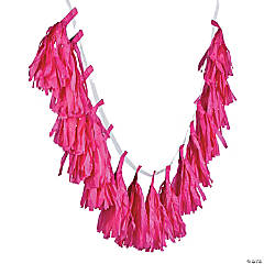 Hot Pink Tassel Garland