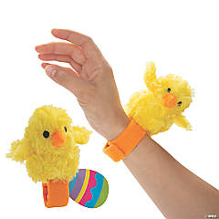 Hugging Easter Stuffed Chick Bracelets with Card