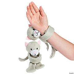 Hugging Stuffed Cat Slap Bracelets