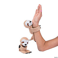 Hugging Stuffed Sloth Slap Bracelets