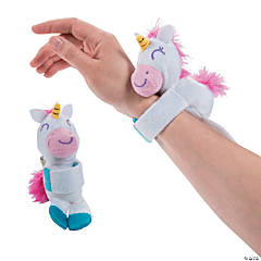 Hugging Stuffed Unicorn Slap Bracelets
