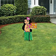 Hula Girl Yard Sign
