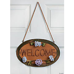 "Hydrangea ""Welcome"" Sign"