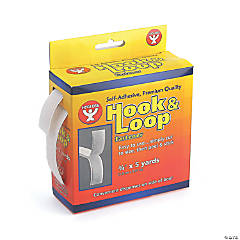 Hygloss Products Inc. Self-Adhesive Hook & Loop Fastener Roll - 3/4