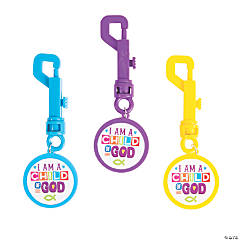 I Am a Child of God Backpack Clip Keychains