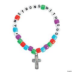 """I Am Strong with God"" Pony Bead Bracelet Craft Kit"