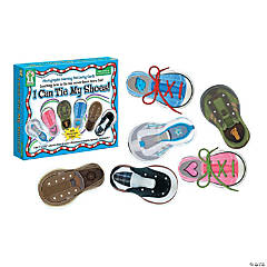 I Can Tie My Shoes! Lacing Card Set, 2 Sets