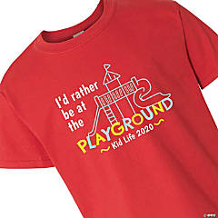 I'd Rather Be At The Playground Youth T-Shirt - Medium