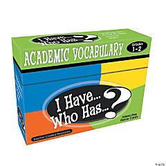 I Have Who Has Academic Vocabulary Grades 1-2