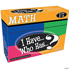 I Have... Who Has... Math Games - Gr. 5/6