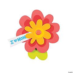 I Heart Mom Flower Pin Craft Kit