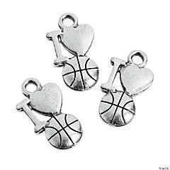 I Love Basketball Charms