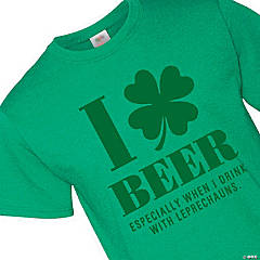 I Love Beer Adult's T-Shirt - Medium