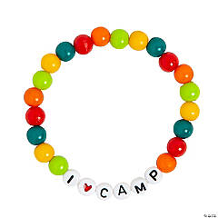 I Love Camp Beaded Bracelet Craft Kit