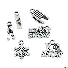 I Love Snow Charms