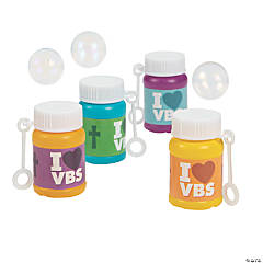 I Love VBS Bubble Bottles - 24 Pc.