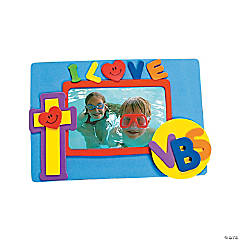 """I Love VBS"" Self-Adhesive Picture Frame Magnet Craft Kit"