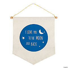 I Love You To the Moon Canvas Sign