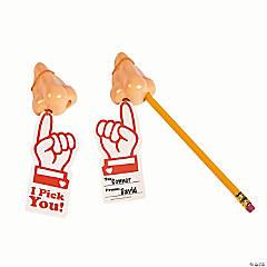 I Pick You Nose Pencil Sharpener Valentines