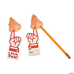 I Pick You Nose Pencil Sharpeners with Valentine's Day Cards