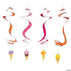 I Scream For Ice Cream Hanging Swirl Decorations - 12 Pc.