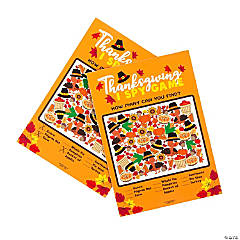 I Spy Thanksgiving Day Activity Sheets - 24 Pc.