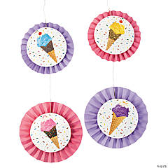 Ice Cream Party Hanging Fans - Less Than Perfect