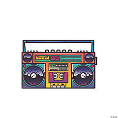 Illustrated Boombox Cardboard Stand-Up