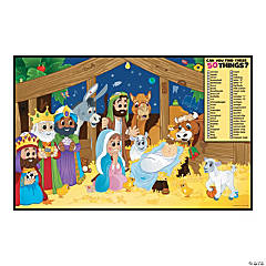 Image Hunt Religious Christmas Activity Sheets