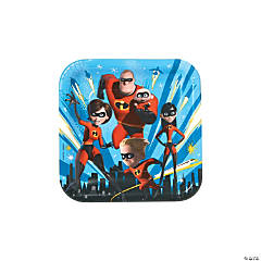 Incredibles 2™ Square Paper Dinner Plates