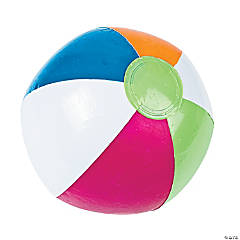 "Inflatable 10"" Bright Spring Medium Beach Balls"