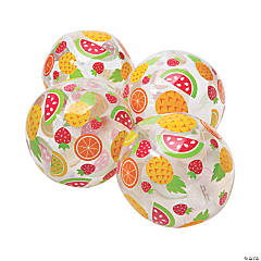 "Inflatable 11"" Fruit Print Medium Beach Balls"