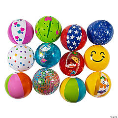 "Inflatable 11"" Medium Beach Ball Assortment"