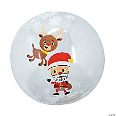 "Inflatable 11"" Snow Globe Medium Beach Balls"