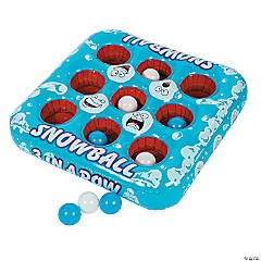 Inflatable 3-in-a-Row Snowball Ball Toss Game