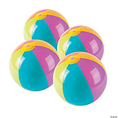 "Inflatable 9"" Bright Medium Beach Balls"