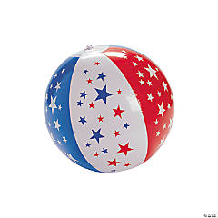 "Inflatable 9"" Patriotic Star Medium Beach Balls"