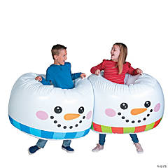 Inflatable Adult Snowman Body Boppers