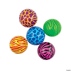 Inflatable Bright Animal Print Balls