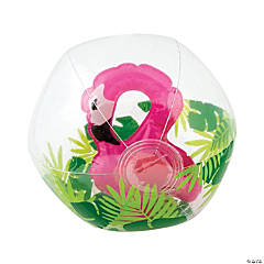 Inflatable Clear Beach Balls with Flamingo Inside