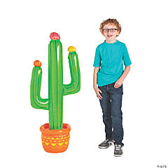 Inflatable Fiesta Cactus with Flowers