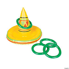 Inflatable Fiesta Sombrero Ring Toss Game