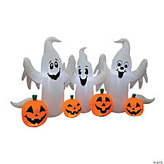 Inflatable Ghosts with Pumpkins Halloween Decoration