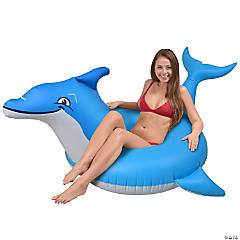 Inflatable GoFloats™ Dolphin Raft Tube