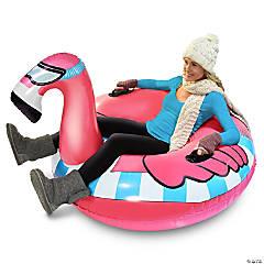 Inflatable GoFloats™ Flying Flamingo Winter Snow Tube