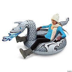 Inflatable GoFloats™ Ice Dragon Winter Snow Tube