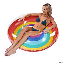 Inflatable GoFloats™ Rainbow Tube Raft