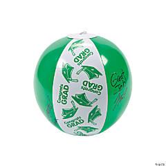 """Inflatable Green """"Congrats Grad"""" Autograph Beach Balls"""
