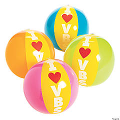 Inflatable I Love VBS Beach Balls